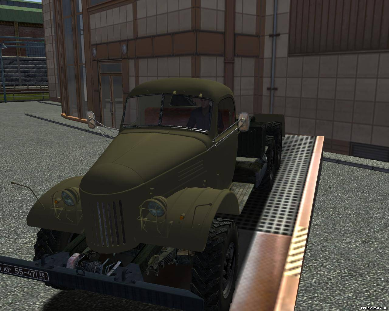 Раритетный ЗИЛ 157 ВТ для игры Euro Truck Simulator. . Заменяет Runner кла